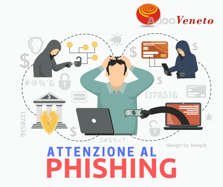 come difendersi dal phishing, cyber truffe email, adoc veneto