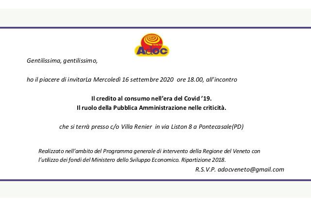Volantino invito evento