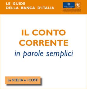 Le guide della banca d'Italia: il conto corrente.