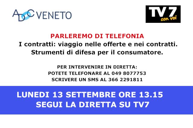 Diretta tv7 lunedi 13